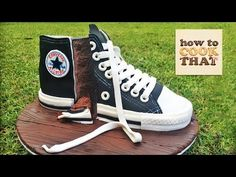 CONVERSE SHOE CAKE TUTORIAL How To Cook That Ann Reardon - YouTube