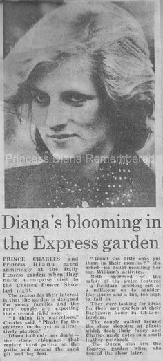 May 21, 1984: Charles & Diana at the Royal Horticultural Society's 63rd annual Chelsea Flower Show, London.