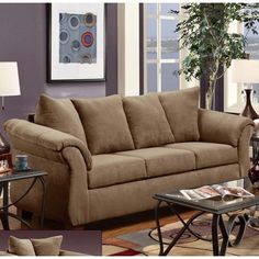 Chelsea Home Kiersten Sofa in Victory Lane Taupe - BEYOND Stores