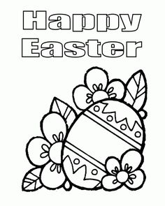 Happy Easter Egg Coloring Page See the category to find more printable coloring sheets. Also, you could use the search box to find what you want. Easter Coloring Pages Printable, Easter Bunny Colouring, Easter Egg Coloring Pages, Easter Printables, Coloring Pages For Kids, Coloring Books, Easter Templates, Colouring Sheets, Kids Coloring
