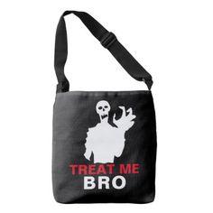 #Zombie Treat Me Bro funny Halloween customizable Crossbody Bag - #Halloween happy halloween #festival #party #holiday