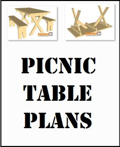 Picnic table & bench plans, free PDF download, includes how-to drawings, step-by-step details, shopping list and cut list. Picnic Table Bench, Bench Plans, Pdf, How To Plan, Drawings, Free, Shopping, Sketches, Drawing