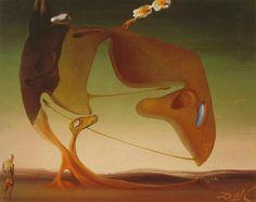 Dali (circa Surrealist Architecture, oil on panel, 14 x 18 cm, Berne, Kunstmuseum Bern Salvador Dali Oeuvre, Salvador Dali Paintings, Les Religions, Les Themes, Georges Braque, Illusion Art, Art Database, Pablo Picasso, Bern