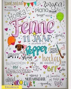 24 vind-ik-leuks, 1 reacties - Brievenbusgeluk (@brievenbusgeluk) op Instagram: '• Fenne 11 jaar • ©️ . . #inopdracht #custommade #brievenbusgeluk #poster #dutchlettering…'