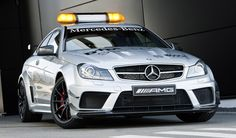 Mercedes C63 AMG Black Series DTM series safety car. Search YouTube or Top Gear clips for this car. There is nothing safe about this car. Pace Car, no?