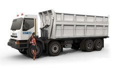 This vehicle paper model is a Renault Kerax 400 8x4 Truck, created by Julius Perdana, and the scale is in 1:48.