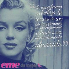 31 Frases de Marilyn Monroe - Estos son los Mejores ! Marilyn Monroe Frases, Audrey Hepburn Quotes, Best Quotes Ever, Welcome To My Page, Einstein, Encouragement, Lettering, Thoughts, Sayings