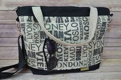 Camera Bag Main Ports of Call & world destinations / satchel / Waterproof canvas purse DSLR bag / messenger, Darby Mack, in stock