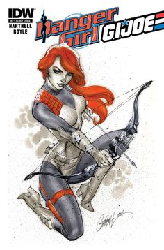 Danger Girl/G.I.JOE #2 by J. Scott Campbell and you wonder why I always wanted to be a red head