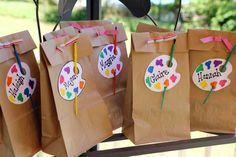 Art Party favor bags