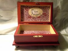 Wood crafts - Beautifully hand crafted safe keeping box.  Enchantedgiftss on Etsy - sold.