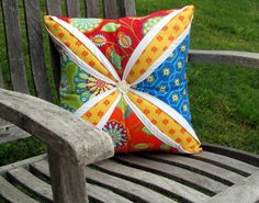 Looking for quilting project inspiration? Check out Lg Cathedral Window Pillow #MayFlowers by member LisaLakeJohnson.