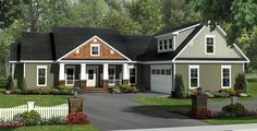 Inviting Craftsman with Options - 51102MM   1st Floor Master Suite, Bonus Room, CAD Available, Craftsman, Den-Office-Library-Study, Northwest, PDF, Photo Gallery, Split Bedrooms, USDA Approved   Architectural Designs
