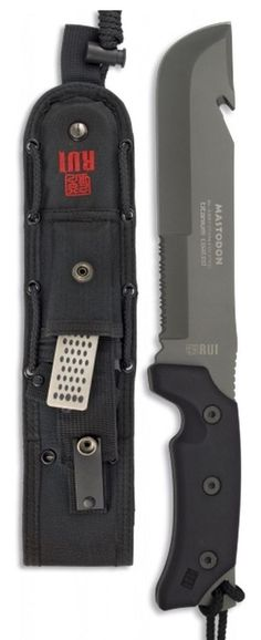 RUI Mastodon Tactical Machete Fixed Knife Blade