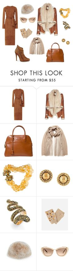"""Office. Early spring. Wednesday. March."" by desinedbyk ❤ liked on Polyvore featuring Cushnie Et Ochs, Mason by Michelle Mason, Hermès, Brunello Cucinelli, Iradj Moini, Chanel, Palm Beach Jewelry, San Diego Hat Co., Saks Fifth Avenue and Miu Miu"