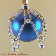 Beaded Christmas ornaments to make that are simple Christmas crafts, a fantastic beading idea that offers a colorful and unique alternative to standard ornaments.