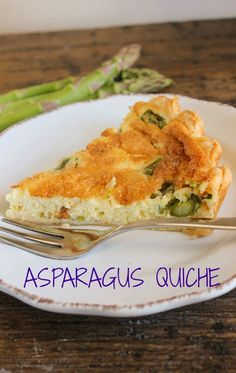 Asparagus Quiche, a great way to welcome the arrival of spring, creamy, cheesy and delicious /anitalianinmykitchen.com