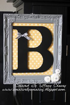 Creatively Creating with Tiffany Cheney: A Monogrammed gift Diy Arts And Crafts, Fun Crafts, Wood Crafts, Homemade Gifts, Diy Gifts, Monogram Wall, Letter A Crafts, Crafty Craft, Baby Crafts