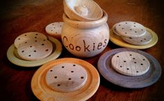 Wooden Kitchen Toy // Cookies Play Set// Wooden by SimpleGiftsToys, $17.00
