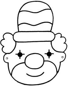 kleurplaat strik clown zoeken thema carnaval