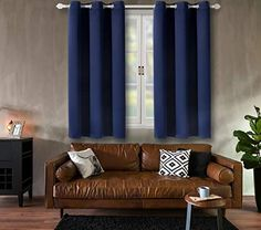 BGment Blackout Curtains for Bedroom - Grommet Thermal Insulated Room Darkening Curtains for Living Room, Set of 2 Panels (42 x 63 Inch, Navy Blue) | CountryCurtains Room Darkening Curtains, Insulated Curtains, Thermal Curtains, Cool Curtains, Bedroom Curtains, Window Drapes, Panel Curtains, Living Room Sets