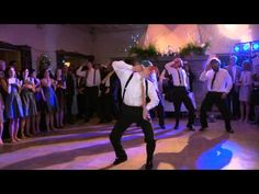 "Groom surprised wife with this amazing performance choreographed to Justin Beiber's ""Baby."" I am laughing so hard right now! Amazing job!"