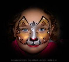 1000 images about maquillage enfant on pinterest face paintings papillons and zebra face paint - Maquillage loup facile ...