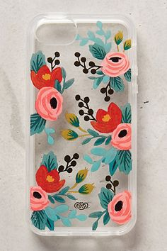 totally DIY-able Floral iPhone 5 Case from anthropologie