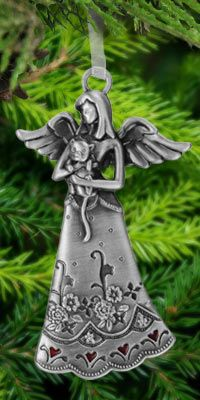 Kitten's Guardian Angel Ornament at The Animal Rescue Site$12.95