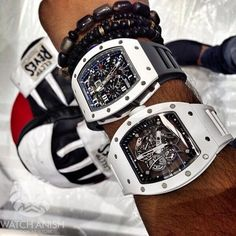 That sweet 1-2 punch @Seddiqi_uae @round10boxing @Richard_Mille RM011 St Tropez (top) and RM055 Bubba Watson.