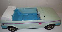Vintage Barbie Jazzie VW Volkswagen Convertible Car 1981 Mattel #Mattel