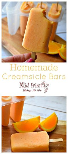 Easy and delicious homemade jello and ice cream creamsicle bars! dreamsicles that the kids can't resist. www.kidfriendlythingstodo.com