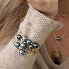 Eye Jewelry, Bead Jewellery, I Love Jewelry, Pearl Jewelry, Body Jewelry, Jewelery, Jewelry Design, Women Jewelry, Pearl Ring Design