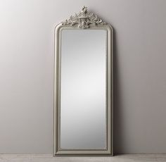 Hand-Carved Rococo Leaner Mirror