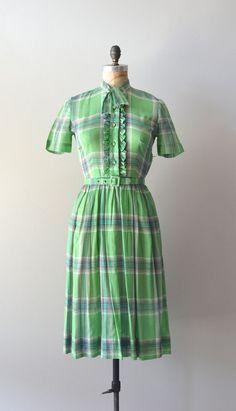 plaid 1950s dress / vintage 50s dress / Phelan Plaid dress