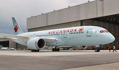 Air Canada Boeing 787-8 Dreamliner C-GHPQ, the first of the type for the airline, parked on the apron at Toronto-Pearson after it's delivery flight from Boeing's Renton factory on 18th May, 2014.