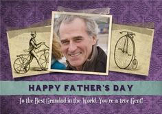 Make your Father Shine this Father's Day with a Photo Upload card from Moonpig.com.au  We love the antique bikes Fathers Day Photo, Happy Fathers Day, Photo Upload, You Are The Father, Card Making, Messages, Antique, Make It Yourself, Feelings