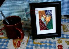 Handpainted Irridescent Mosaic Original Love never fails - ACEO by lisssilverwing for $50.00