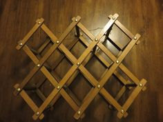 Your place to buy and sell all things handmade Wine Bottle Rack, Bottle Holders, Wood Wine Racks, Dark Stains, Wood Surface, Dark Wood, Simple Way, Vintage Items, Etsy Shop