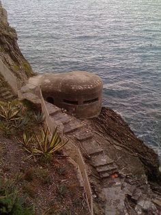 Old WWII Bunker...now a Restaurant - Moneglia, Province of Genoa, Liguria region Italy