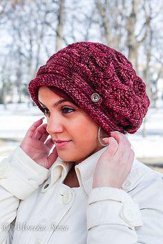 Nollie Hat by Monika Sirna. malabrigo Mecha in Jupiter colorway.