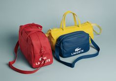 The Lacoste Spring/Summer 2012 Leather Goods collection featuring the Gymnasium Bags