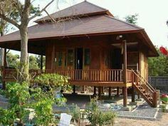 30 Best Tiny House Design in Asia - Small House Design and Plans Bamboo House Design, Tropical House Design, Small House Design, Tropical Houses, Tropical Style, Thai House, Style At Home, Filipino House, Tiny House Cabin