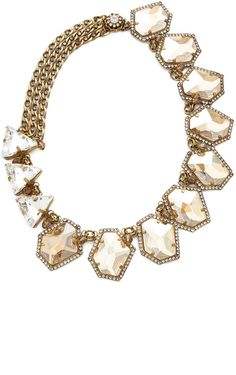 Glittering, prismatic crystals hang from this luxe erickson beamon necklace, giving any look a sumptuous twist of glamour. 24k gold  #Jewelry #Necklace www.finditforweddings.com