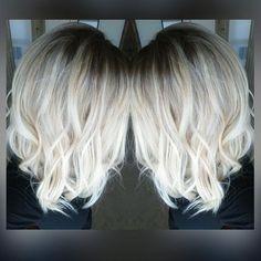 """❄️platinum ice❄️ #iceblonde #behindthechair #btcpics #modernsalon #americansalon #denverhair #denverhairstylist #hairpainting #balayage #ombre #sombre…"":"