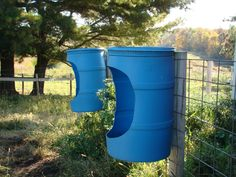 idea for horse mineral feeder---Awesome for keeping it off the ground in pastures and whatnot. Could even do it on a tree. Horse Paddock, Horse Stables, Horse Barns, Hay Feeder For Horses, Horse Feeder, Cow Feeder, Cattle Farming, Goat Farming, Livestock