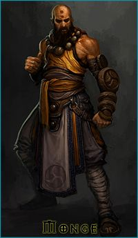 Diablo 3 Class War - Monk Another mostly melee warrior-esque class, the Monk uses martial arts and is a Holy Warrior of the Light. Fantasy Warrior, Fantasy Rpg, Medieval Fantasy, Fantasy Heroes, Fantasy Male, Pathfinder Character, Pathfinder Rpg, Character Concept, Character Art