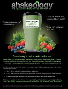 I'm so excited to try the new Greenberry #Shakeology!  Might have a new flavour in my rotation.  Try it today!  It comes with a 30 day money-back guarantee so it's risk-free!  Read more about Shakeology here: myshakeology.com/CathyB18