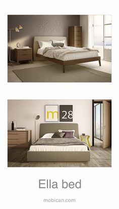 Click here to see Mobican's Ella beds: http://mobican.com/ella/ .  It is being introduced in #HPMKT this week. This bed comes with an upholstered headboard with a frame that can be  made of wood or upholstered. #mobican #bed #furniture #madeincanada #upholstered #wood #contemporary