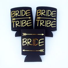 Bride Tribe Bride Tribe Coozies Bachelorette by TheCraftyEngineerx